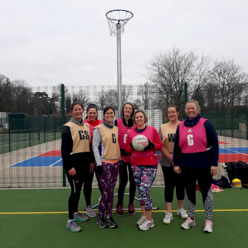 Group of women with a netball